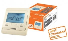 Термостат для теплых полов электронный сенсорный ТТПЭ-2 16А 250В с датчиком 3м сл кость TDM