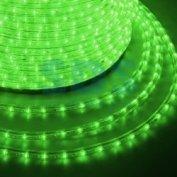 Дюралайт led, постоянное свечение (2w) - зеленый эконом 24 led/м , бухта 100м
