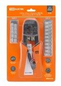 Набор: клещи обжимные KO-9E (RJ-11/45), наконечники RJ-11(10 шт), RJ-45(10 шт), «МастерЭлектрик» TDM
